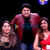 Sajid Khan snapped on sets of Super Dancer