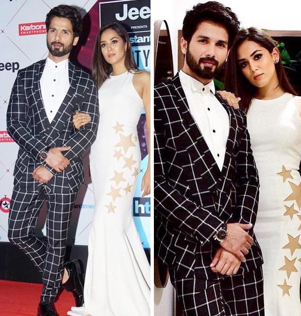 Shahid Kapoor and Mira Rajput at HT Most Stylish Awards 2018