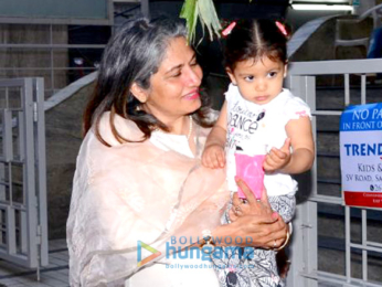 Shahid Kapoor's daughter Misha snapped with her grandmother going to school