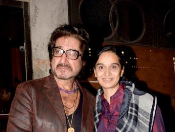 Shakti Kapoor spotted with wife Shivangi Kolhapure in Juhu