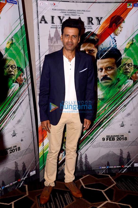 Sidharth Malhotra and Manoj Bajpayee snapped promoting their film Aiyaary