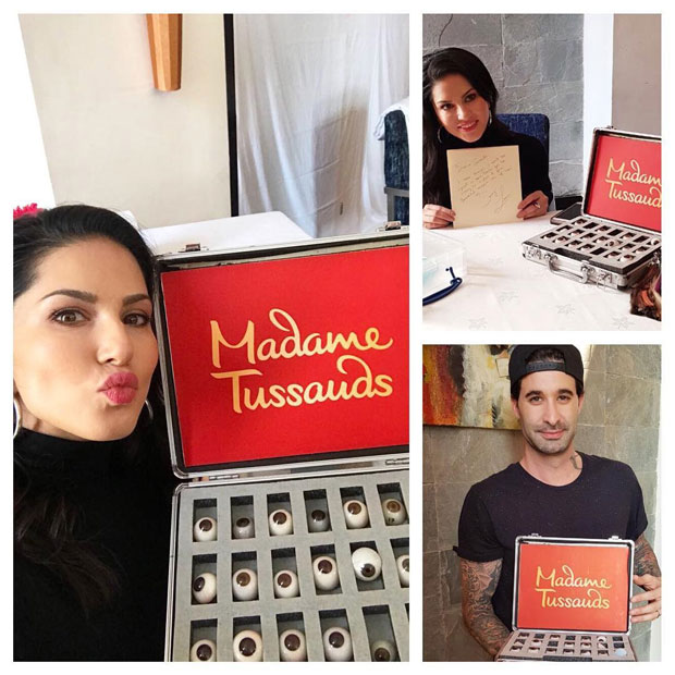 Sunny Leone gets ready for her wax statue at Madame Tussauds Delhi