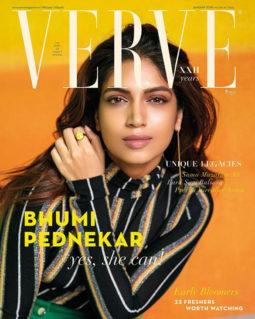 Bhumi Pednekar On The Cover Of Verve, Jan 2018
