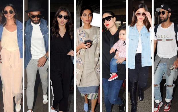 Weekly Airport Style: Deepika Padukone, Ranveer Singh ...