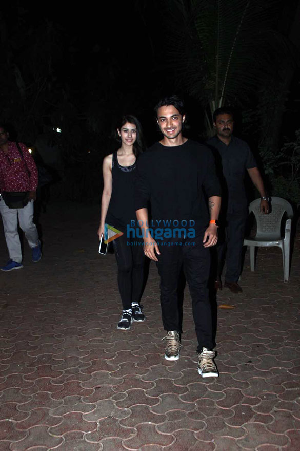 Aayush Sharma and Warina Hussain snapped at the dance class