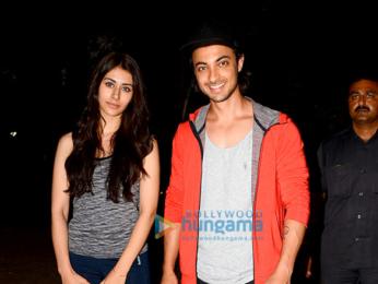 Aayush Sharma and Warina Hussain spotted at the dance class in Bandra
