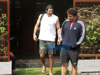 Aditya Roy Kapur and Mohit Suri spotted outside a cafe in Bandra