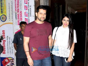 Aftab Shivdasani and wife Nin Dusanj snapped at Pali Bhavan