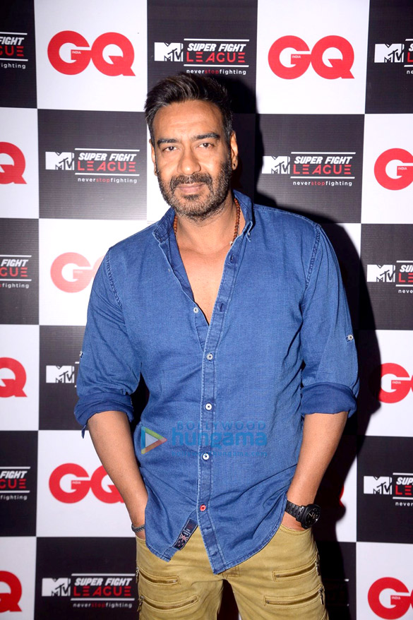 Ajay Devgn, Arbaaz Khan and Sulaiman Merchant attend the launch of MTV Super Fight League