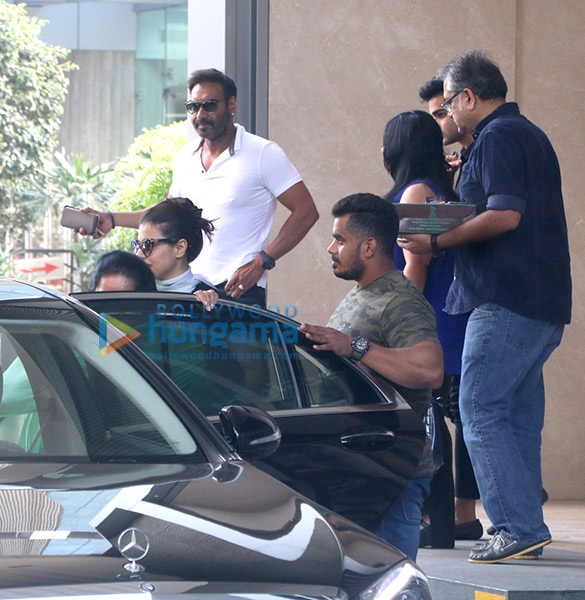Ajay Devgn with family spotted at Yauatcha, BKC