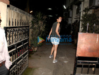 Akshara Haasan spotted after dinner in Bandra