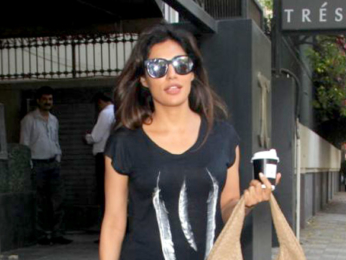 Chitrangda Singh spotted outside a cafe in Bandra