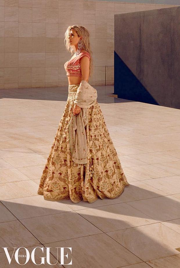 Fantasy Moment – Kim Kardashian in an Anita Dongre ensemble for Vogue India