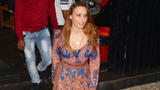 Iulia Vântur Spotted At A Salon In Mumbai