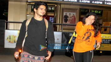 Jahnvi Kapoor and Ishaan Khatter snapped at PVR Juhu