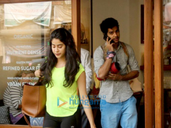 Janhvi Kapoor and Ishaan Khatter spotted at Sequel Cafe in Bandra
