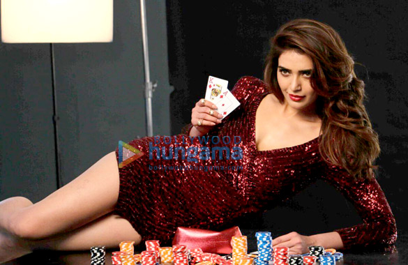 Karishma Tanna snapped at photoshoot for Kolkata diamond poker league