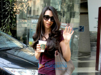 Karisma Kapoor spotted outside a cafe in Bandra
