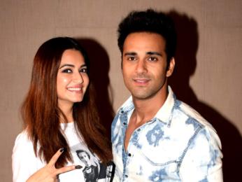 Kriti Kharbanda and Pulkit Samrat snapped promoting their film 'Veerey Ki Wedding'