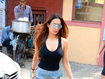 Malaika Arora and Esha Gupta and Iulia Vantur snapped in Bandra