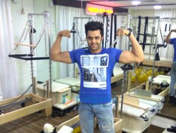 Manish Paul snapped at pilates studio launch