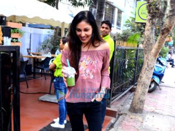 Pooja Chopra and Shama Sikander spotted at Bombay Salad in Bandra
