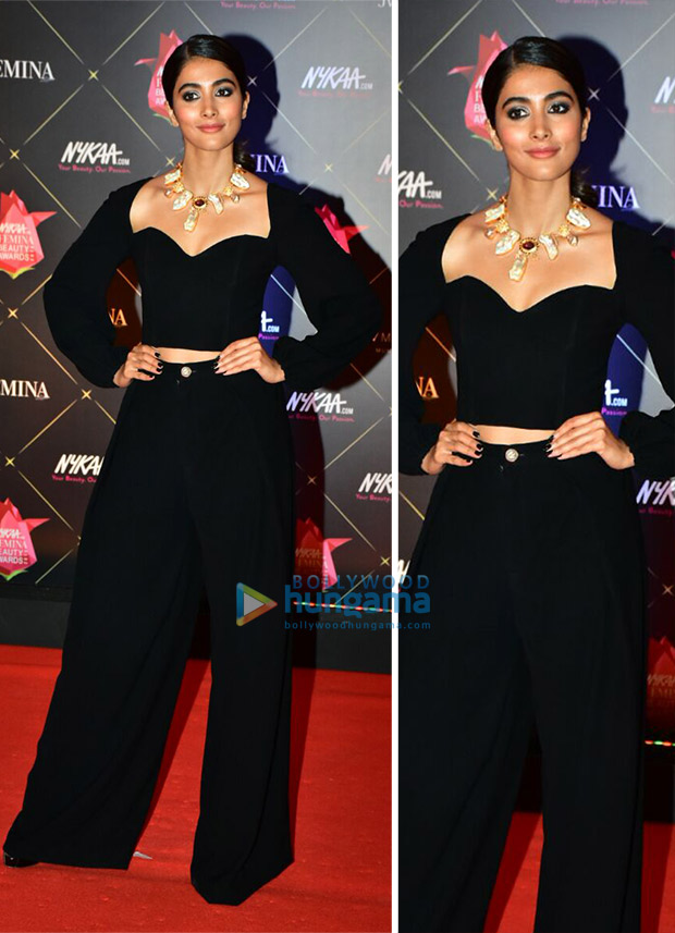 Pooja Hedge at Nykaa.com Femina Beauty Awards 2018