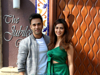 Pulkit Samrat and Kriti Kharbanda snapped promoting 'Veerey Ki Wedding'