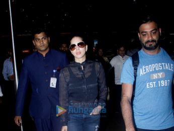 Shah Rukh Khan and Sunny Leone snapped at the airport