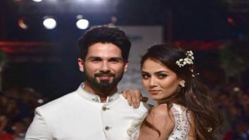 Shahid Kapoor & Mira Rajput walk for Anita Dongre's show at Lakme Fashion Week 2018