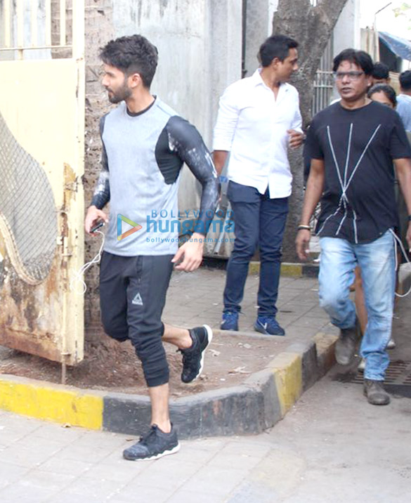 Shahid Kapoor spotted at Reset gym