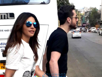 Shama Sikander snapped with her boyfriend in Mumbai