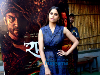 Sharad Kelkar and Sai Tamhankar promote their Marathi film 'Rakshas'