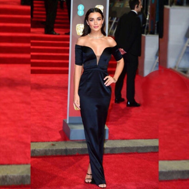 Sophisticated in the front, Party in the back,This is how Amy Jackson rolled at the BAFTA Awards 2018
