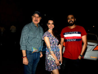 Soundarya Sharma and Anupam Kher snapped in Juhu