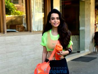 Soundarya Sharma snapped at the gym