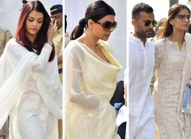 Sridevi funeral pics & videos Aishwarya Rai, Sushmita Sen, Sonam Kapoor reach the venue