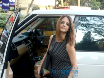 Sussanne Khan snapped at Kromakay salon in Juhu