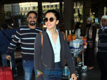 Taapsee Pannu and Zareen Khan snapped at the airport