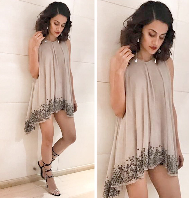 Taapsee Pannu in a Rohit Gandhi and Rahul Khanna swing dress
