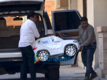 Taimur Ali Khan spotted at Amrita Arora's residence