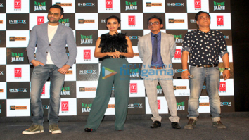 Abhay Deol and Patralekha grace the trailer launch of the film Nanu Ki Jaanu
