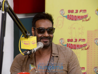 Ajay Devgn and Ileana D'Cruz spotted at 98.3 FM Radio Mirchi