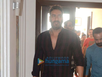 Ajay Devgn and Ileana D'Cruz snapped at Sun & Sand Hotel in Juhu