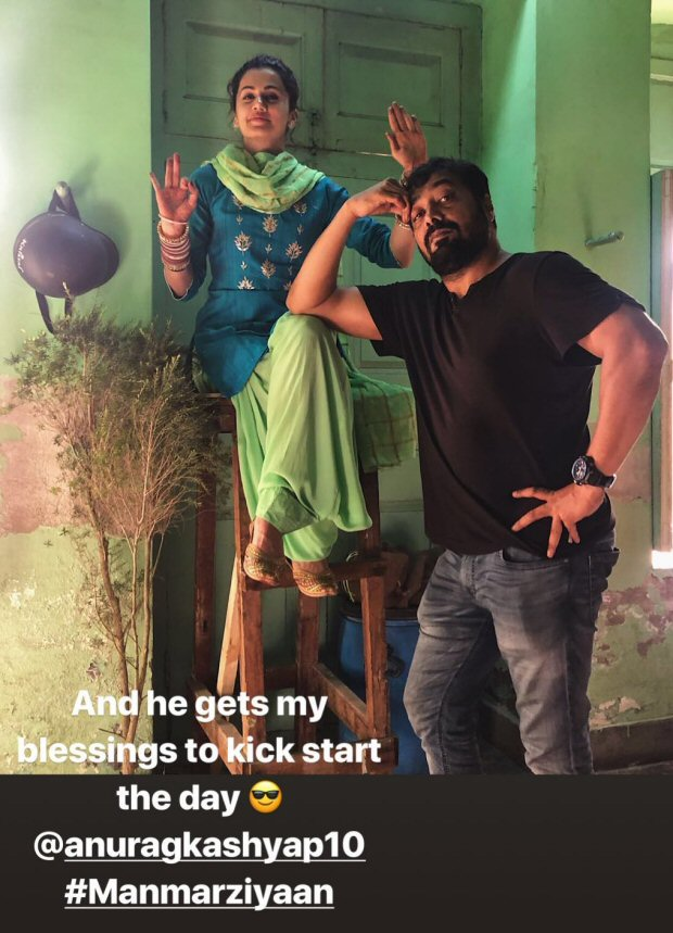 Anurag Kashyap jokingly THROWS Taapsee Pannu out of the sets of Manmarziyaan