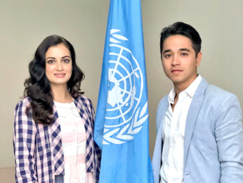 Dia Mirza snapped at the panel discussion with UNEP Asia Pacific
