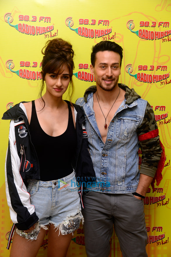 Disha Patani and Tiger Shroff for radio interviews for Baaghi 2
