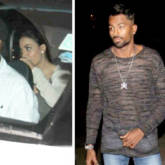 Elli Avram hides her face from paparazzi whilst spotted with Hardik Pandya