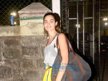 Gabriella Demetriades snapped at football groung Bandra
