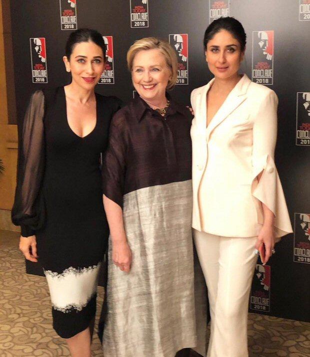 India Today Conclave 2018: Kareena Kapoor Khan and Karisma Kapoor meet Hillary Clinton